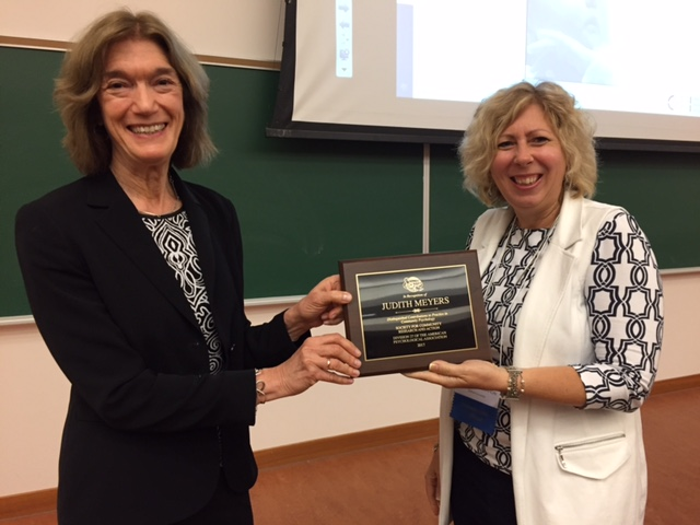 Judith Meyers Honored for Her Work as a Community